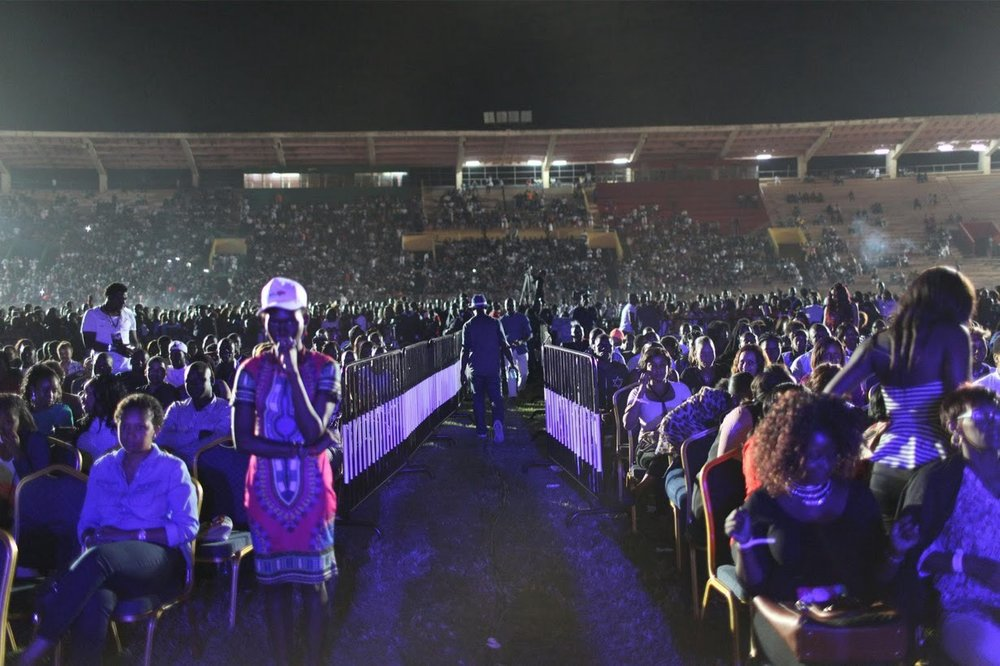 Wizkid, Popular Nigerian Afropop Artiste fills a Stadium | Photo by Joe Penney/Reuters/Newscom
