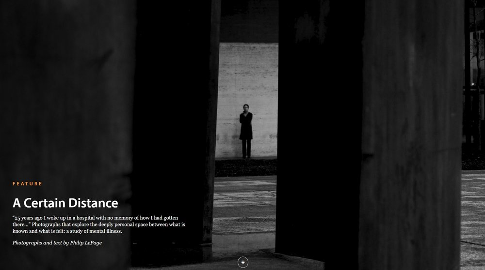 A Certain Distance featured in LensCulture Magazine.