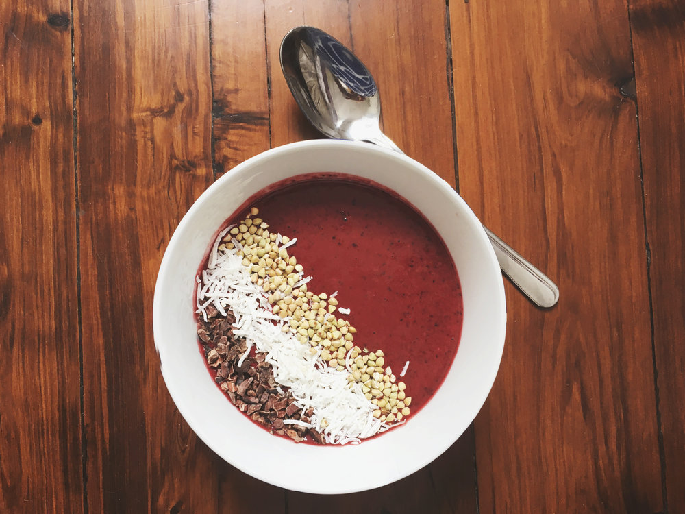 Beetroot & blueberry Bowl liver health
