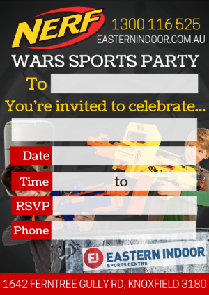 How to throw and epic nerf birthday party eastern indoor sports invitations stopboris Images