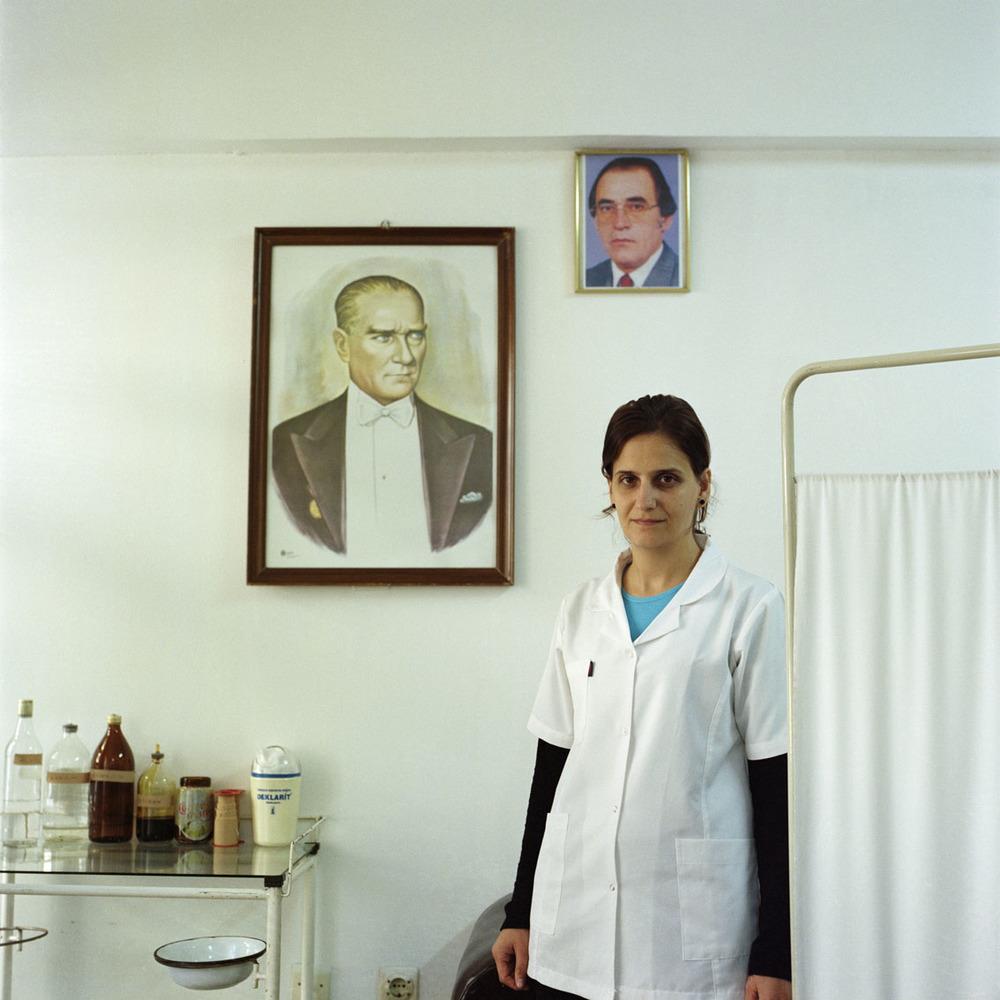 Nurse in the Black Sea city of Zonguldak, Turkey