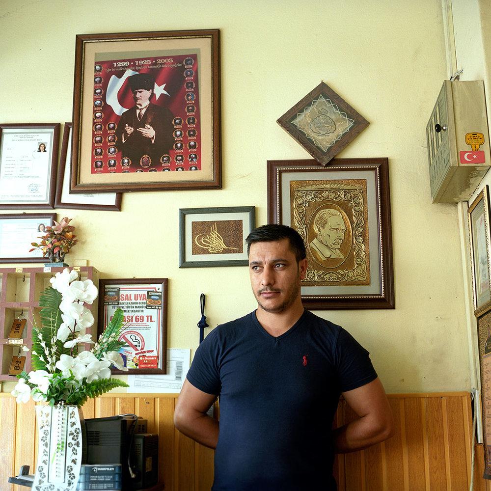 Hotel lobby in Izmir, Turkey