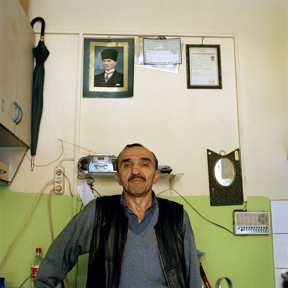 Cloak room attendant in Bartin, Turkey