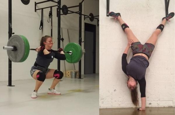 Üben an der Technik und den Gymnastik Skills
