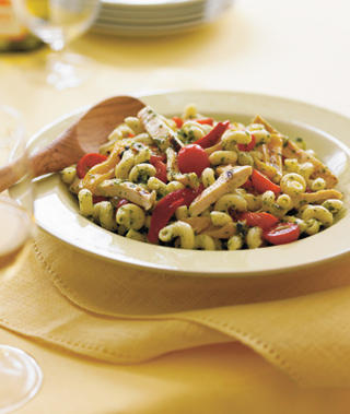 Pesto Pasta with Grilled Chicken Recipe