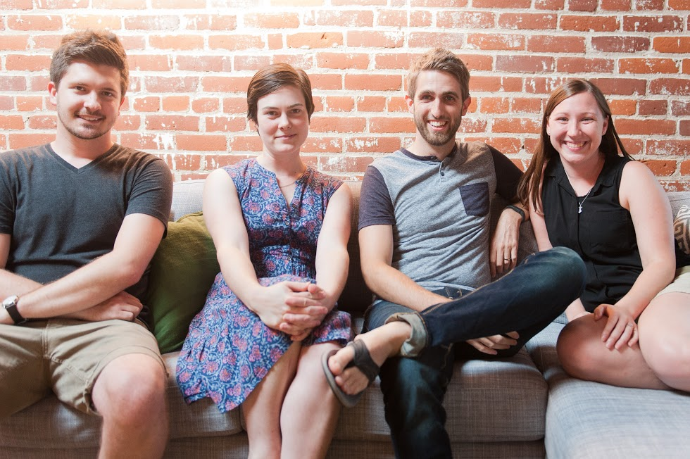 Knapsack Creative Co. Team from L to R: Jeremy Marquis, Jael Sette, Benjamin Manley and Joy Guelzo.