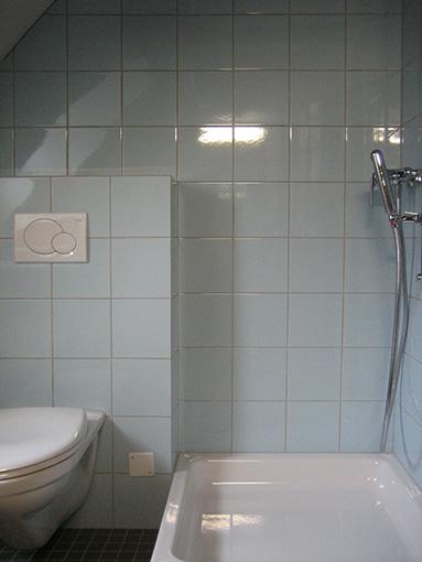 Dusche/WC mit Waschmaschine und Tumbler