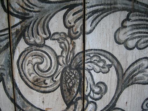 Barocke Grisaille-Malerei an der Küchen-Decke