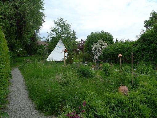 Garten, Blick hangwärts