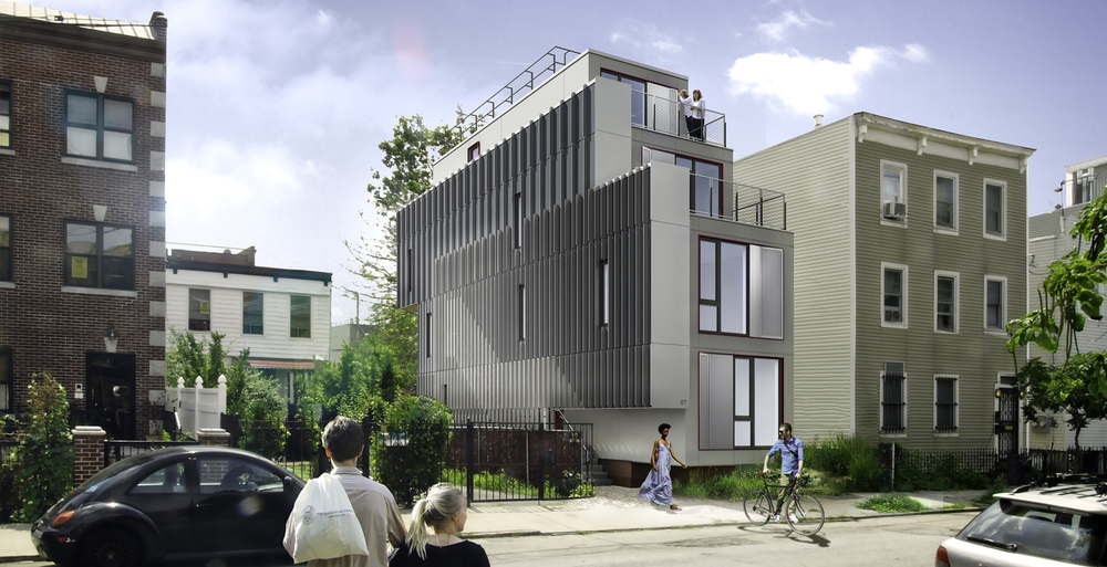 DEVELOPED DD AND CD SETS FOR THIS FOUR STORY MODULAR BUILDING SCHEDULED TO BE INSTALLED IN RED HOOK, BROOKLYN