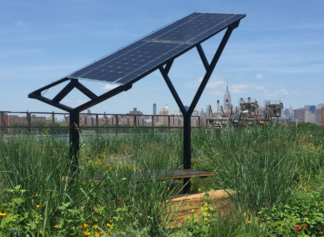 THE STRUCTURE WAS DESIGNED TO MAXIMIZE SOLAR YIELD WHILE SPEAKING TO THE INDUSTRIAL LANGUAGE OF THE AREA.