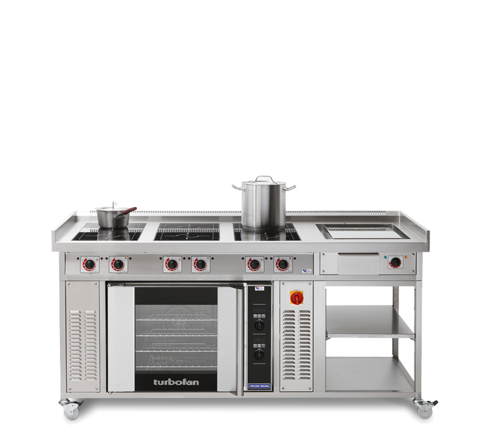 commercial induction range with oven