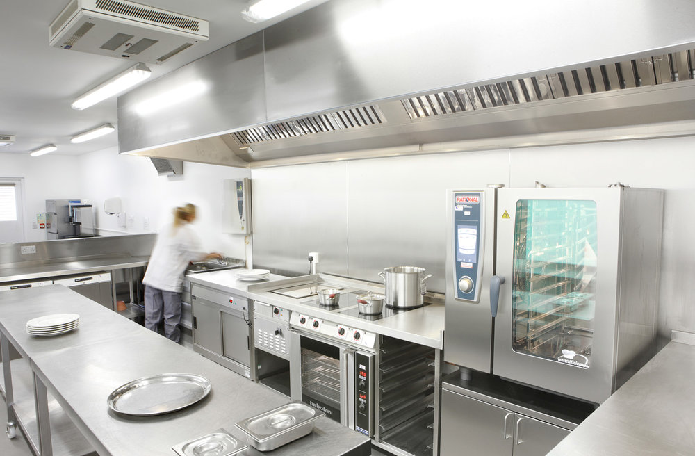 Attractive Commercial Kitchen Design UK Design