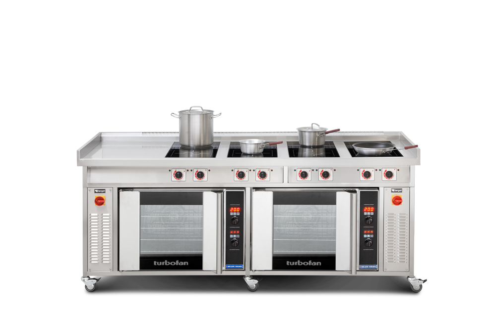 induction solid top range