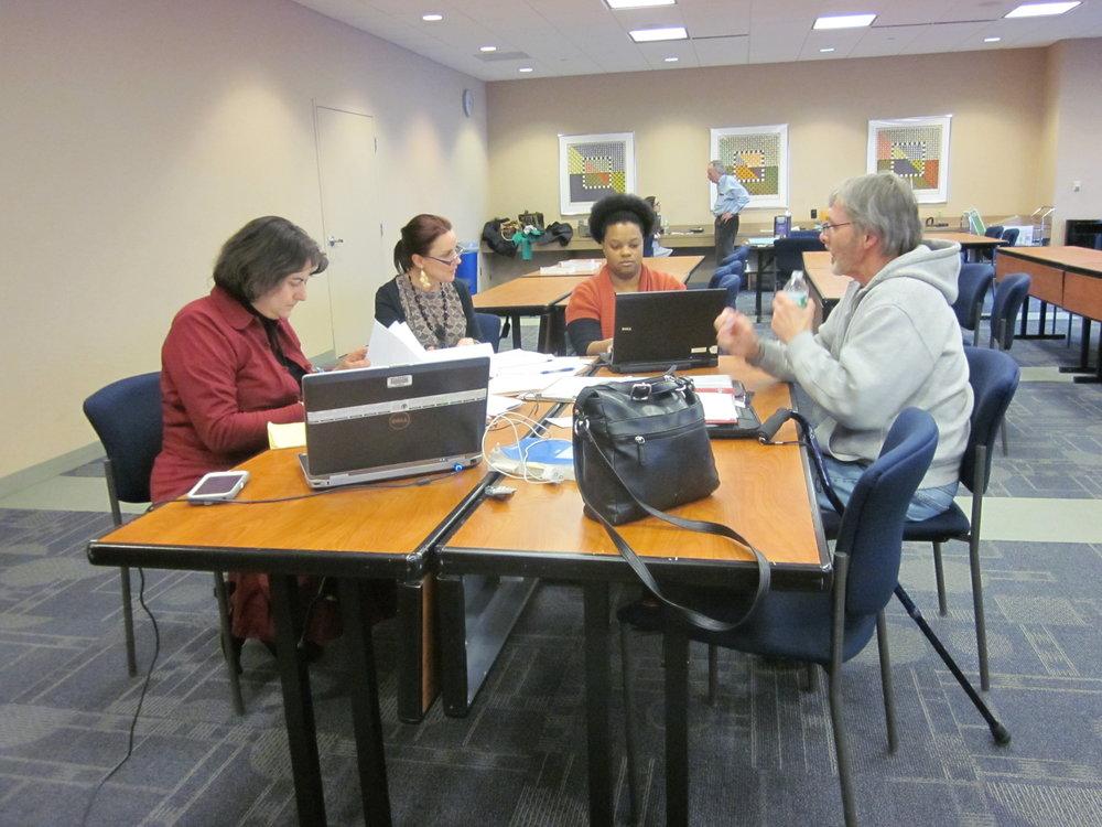 Suzanne Klar, Kaleia Edmundo, Cheryl Petroski, client Raymond Kaleita 2.JPG