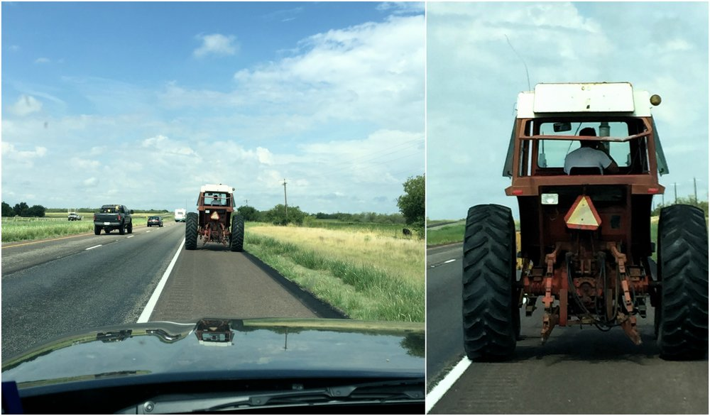 Here's a snapshot of my day. It's a photo of me following my sweet husband to our shop. I have a soft spot for this particular tractor. She's older than I am and my husband bought her while we were newly engaged. He's moved onto bigger and newer tractors for most jobs, but this girl still pulls her weight on the farm.