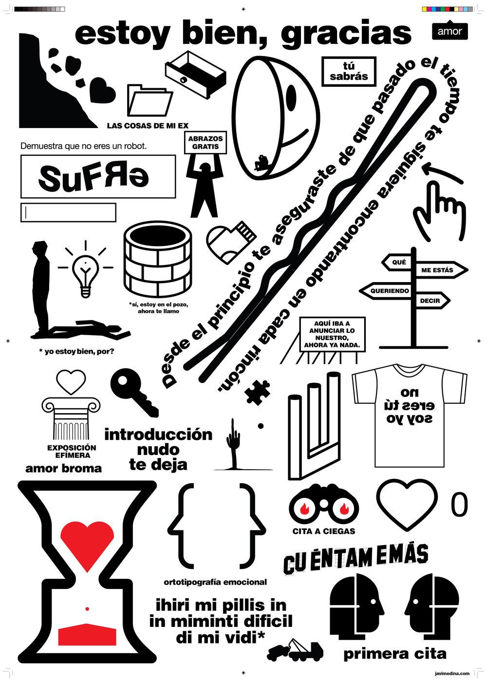 """cartel """"estoy bien gracias"""" 2017"""