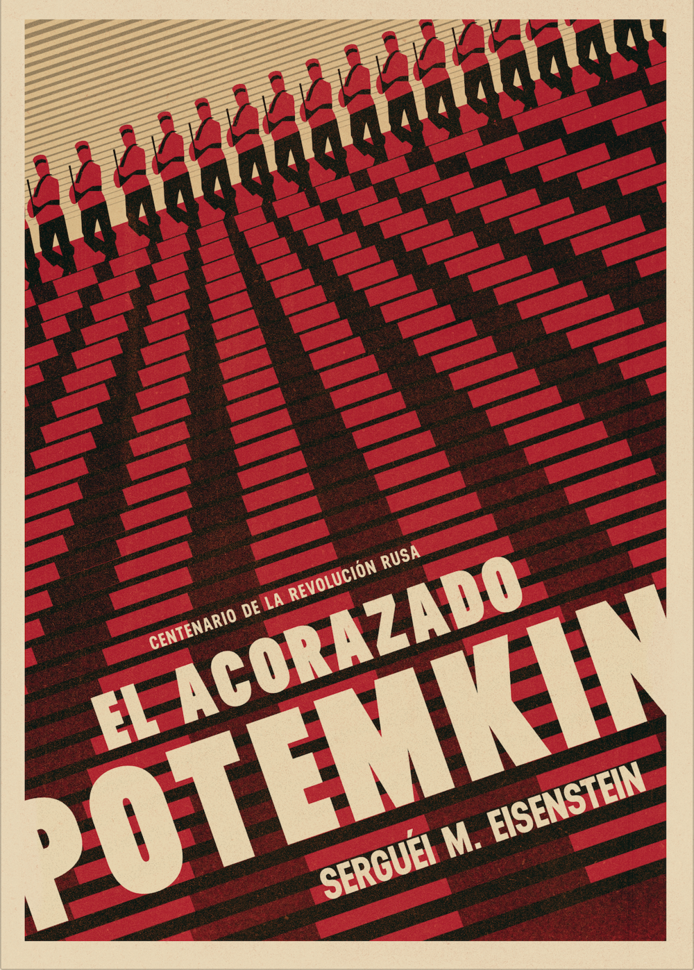 Házte con un cartel del centenario de la revolución rusa  aquí