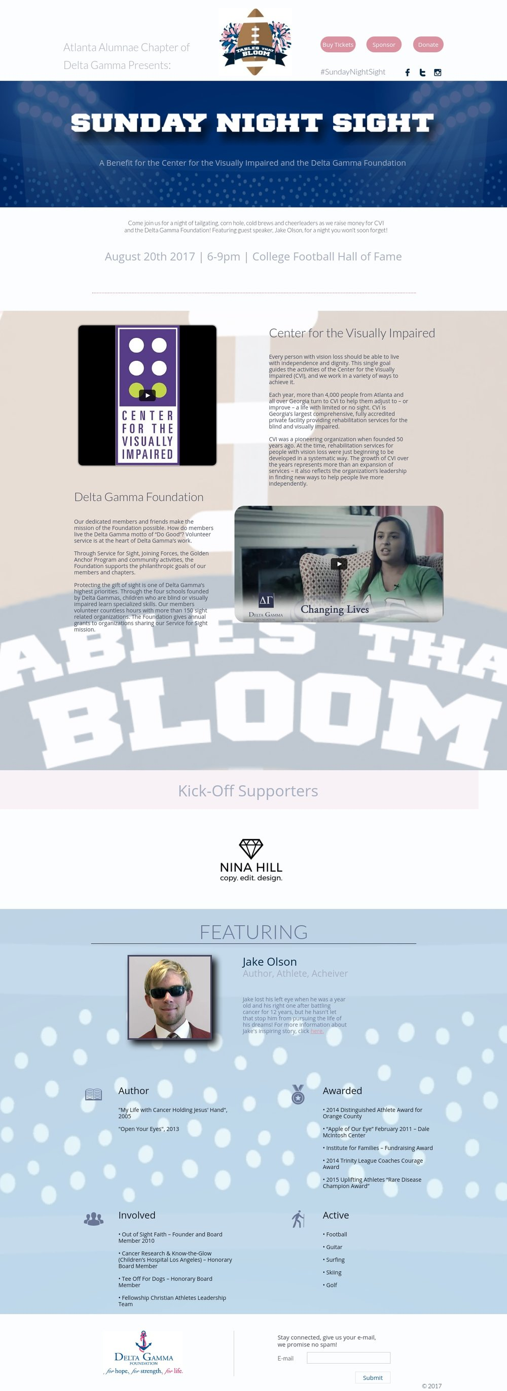 """Atlanta Delta Gamma """"Tables That Bloom"""" Webpage"""
