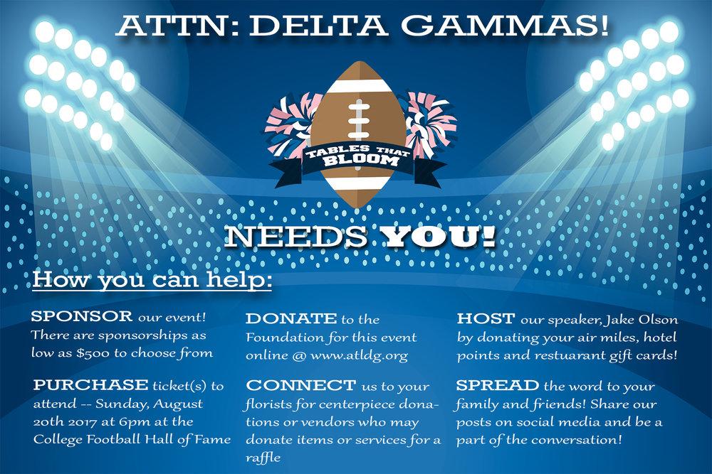 Delta Gamma Fundraiser Postcard (back)