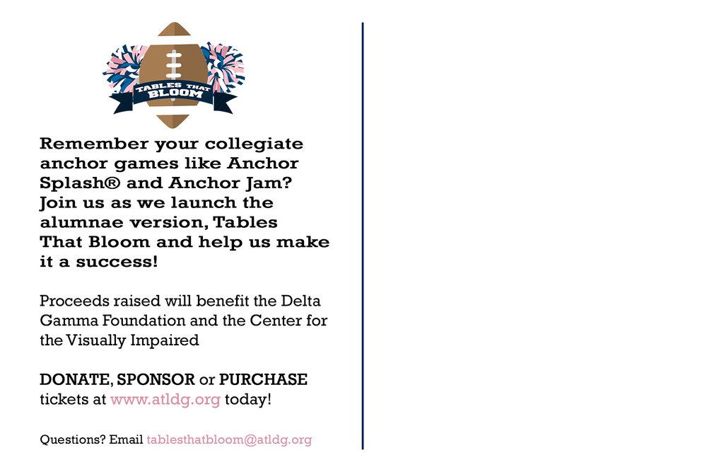 Delta Gamma Fundraiser Postcard (front)
