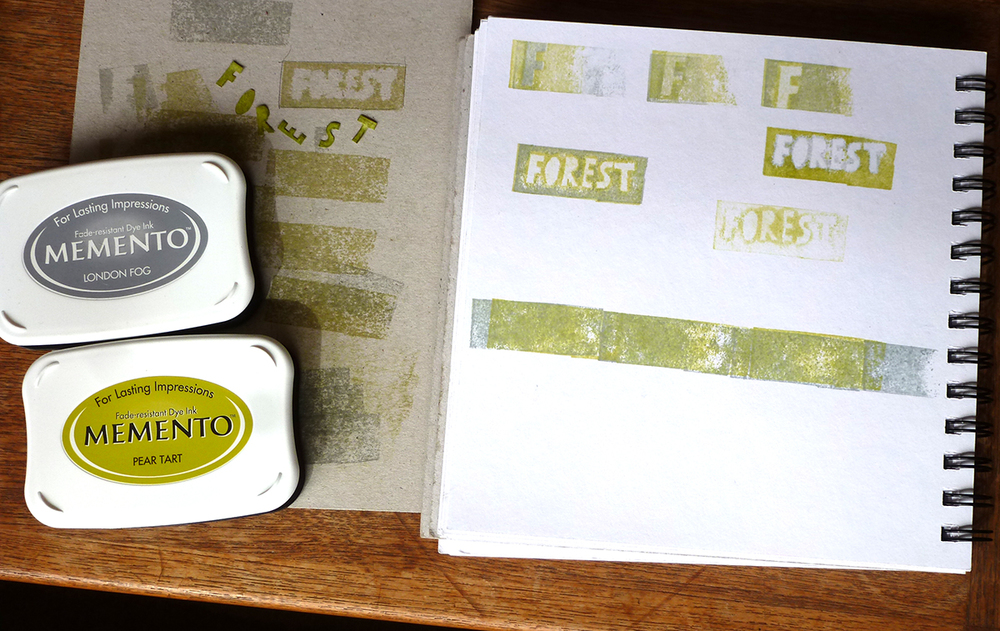 Trial and error with stencils and stamps