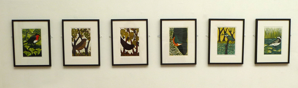 reduction woodcuts by  Caroline Case