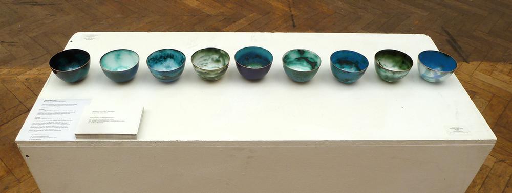 enamel bowls by  Karen Murrell