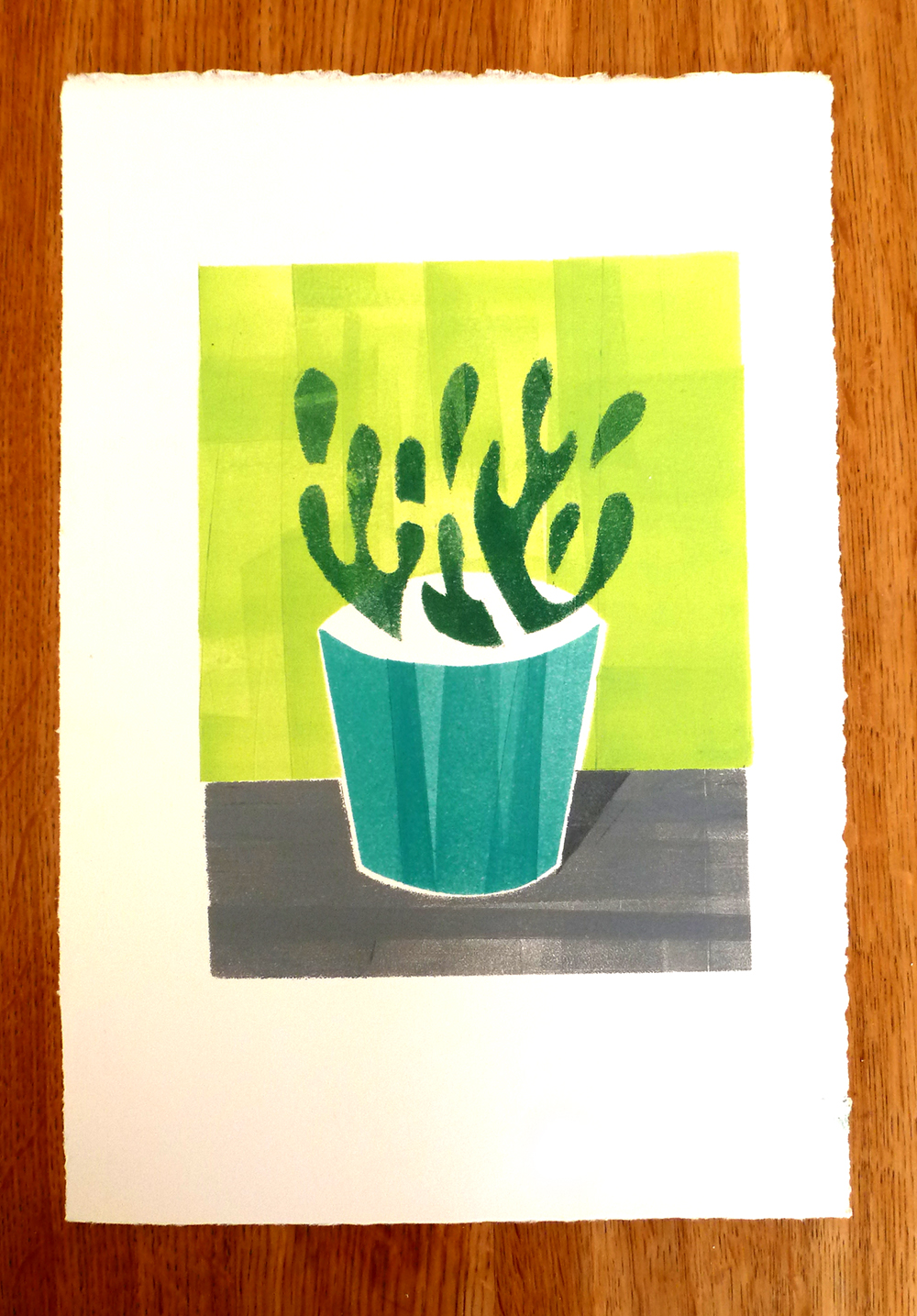 First stencil prints — Corinne Welch