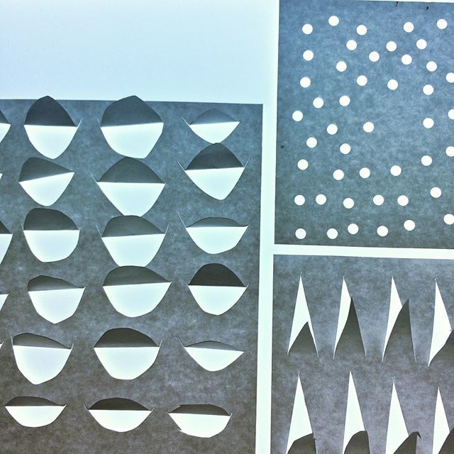 Creating different paper textures (photographed on a lightbox).