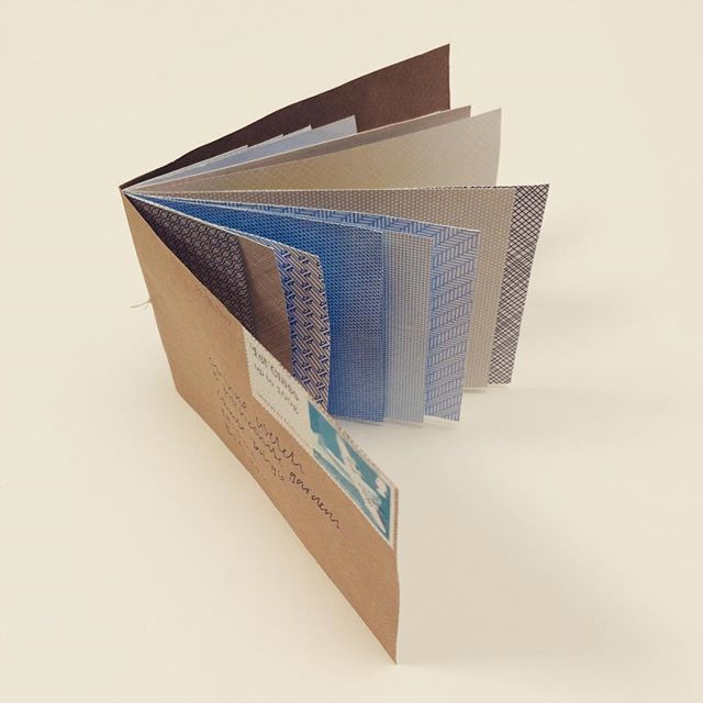 Pamphlet stitch booklet of envelope linings.