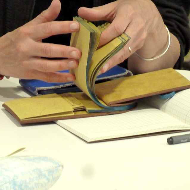 Sarah Jarrett-Kerr's exquisitely bound girdle book 'Sammy the Seal goes to the Library'