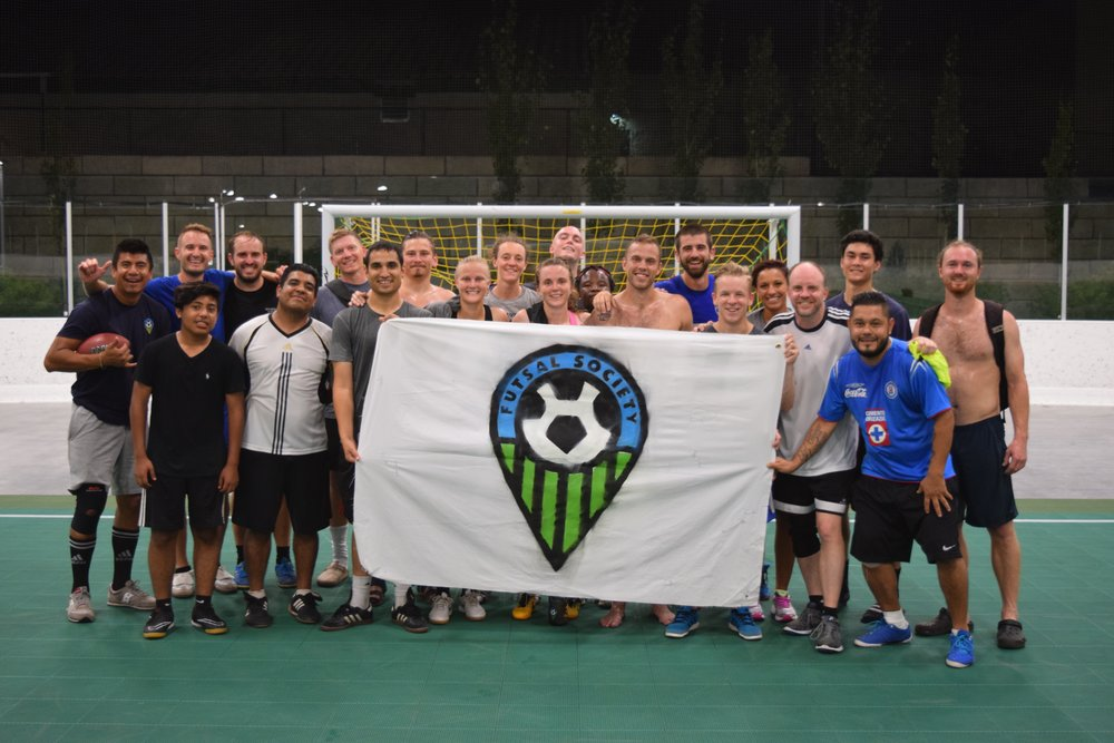 Futsal Society's mission is simple: play futsal, have fun, and give back to our community.