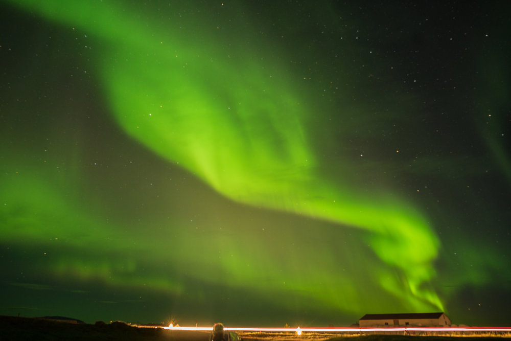 Northern Lights over Lake Mývatn