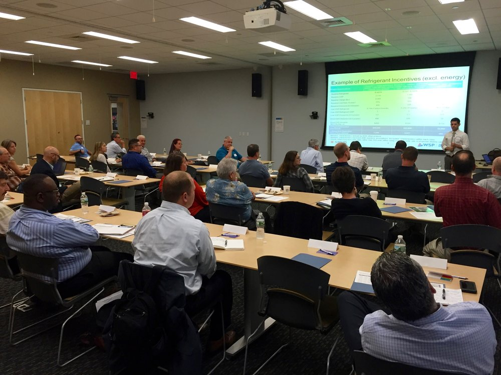 A snapshot from NASRC's August 4th, 2016 workshop (that one focused specifically on utility incentives for natural refrigerant equipment).