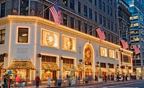 Lord & Taylor during the holiday months