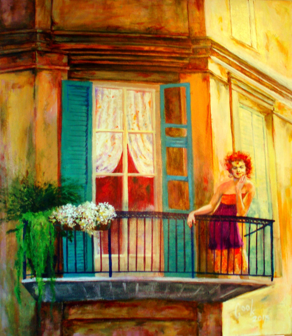 GIRL ON A BALCONY