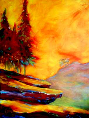 SUNSET TREESCAPE