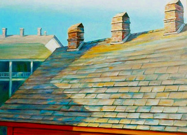 CHIMNEY SCAPE, $4,000.
