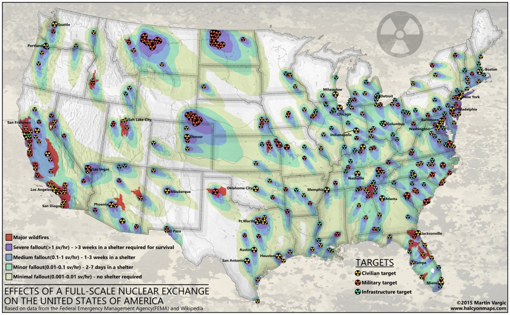Effects of a Nuclear War on the United States — Halcyon Maps