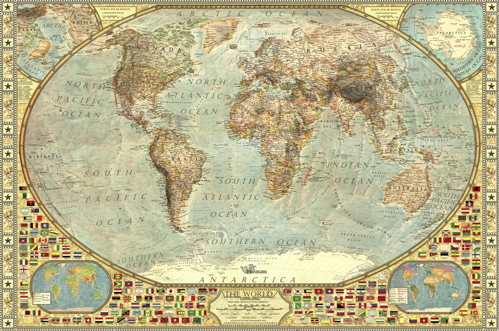 The World   Decorative — Halcyon Maps