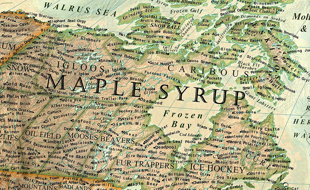 The Map Of Stereotypes Halcyon Maps