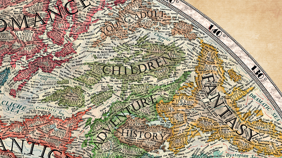 Literature Map Of The World.The Map Of Literature Halcyon Maps