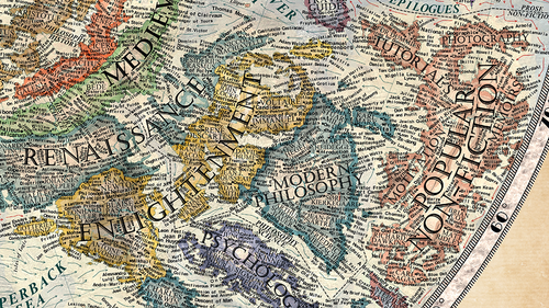 Literature Map Of The World.Halcyon Maps