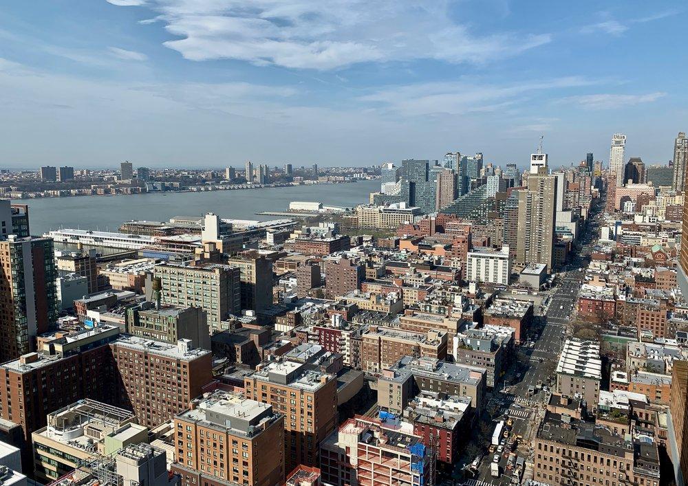 view from midtown west Manhattan