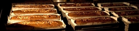 Pans of carrot cake baked by the Rikers Island inmates.