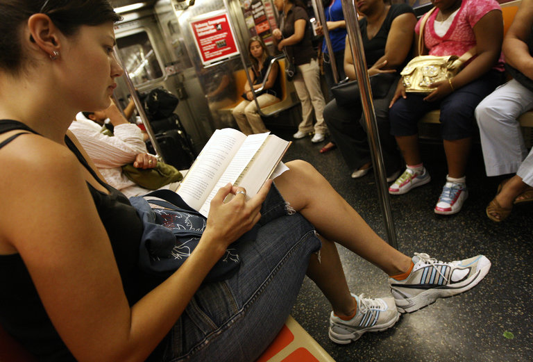 The urban reader.     Credit: Ruth Fremson/The New York Times
