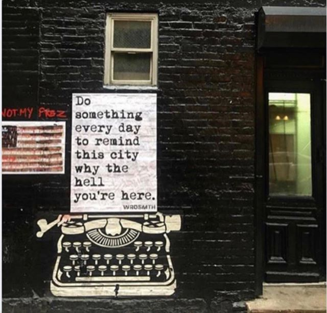 This was graffitied onto a wall in Soho. The message (If you look closely, there are two, actually) speaks for itself.  #ilovenewyork, #newyorker, #soho . . . . #pictures_of_newyork, #citylife, #incrediblemanhattan, #nycityworld, #new_fork_city, #notmyprez, #putnambooks