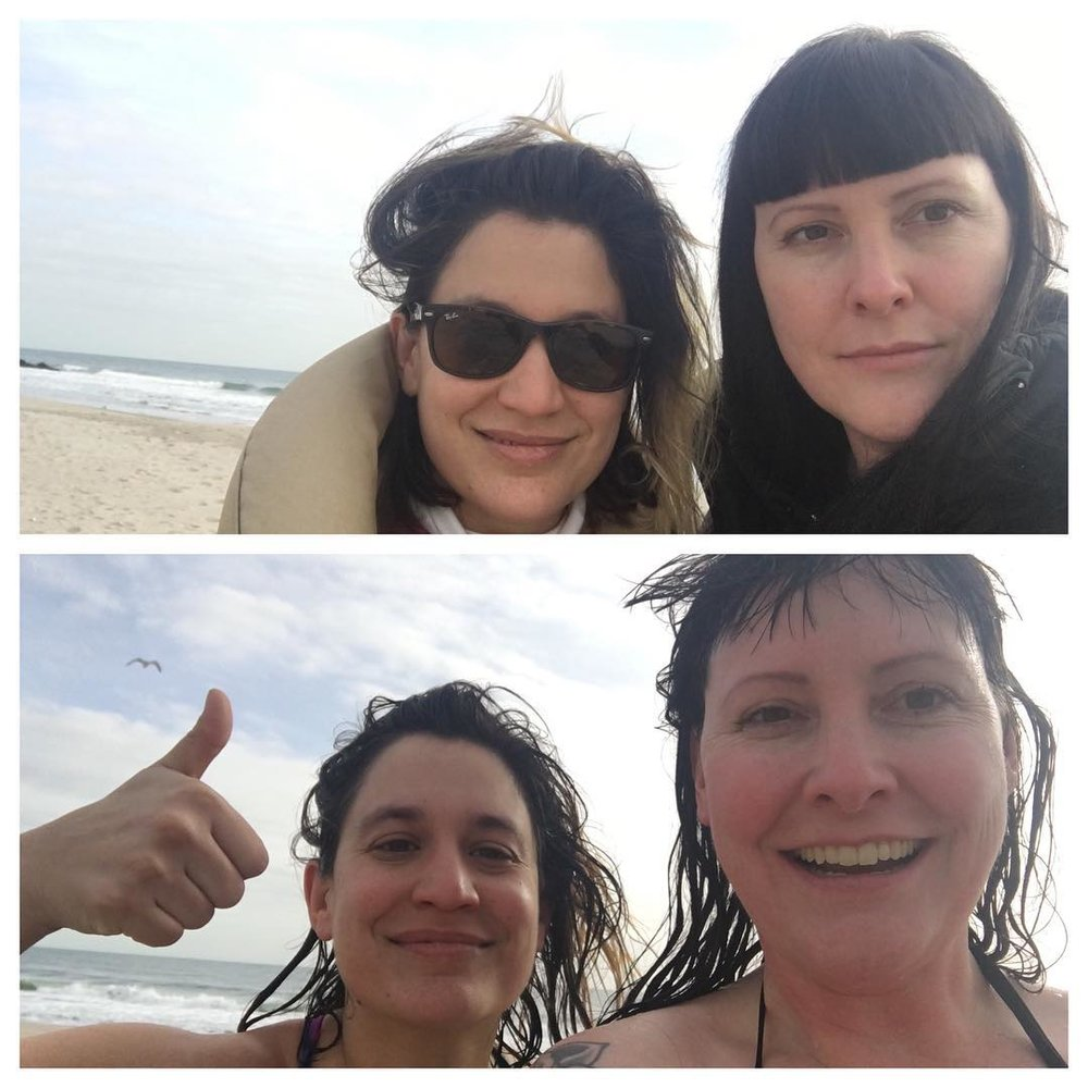 Annual January polar bear dip in Rockaway