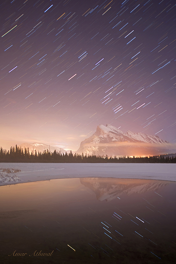 Mount Rundle Star Trails 171229f Amar Athwal.jpg